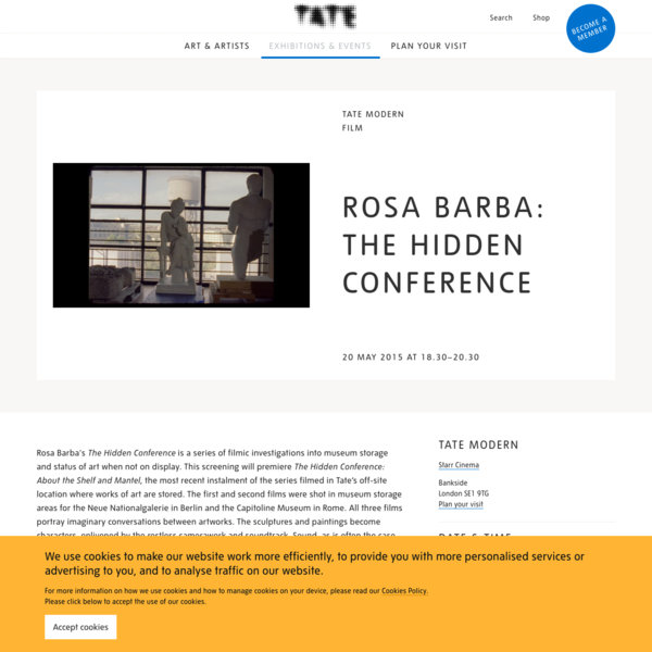 Rosa Barba, The Hidden Conference