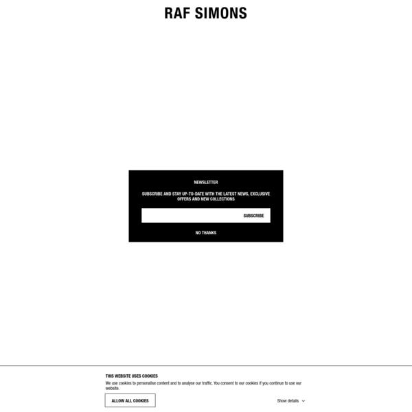 RAF SIMONS SHOP