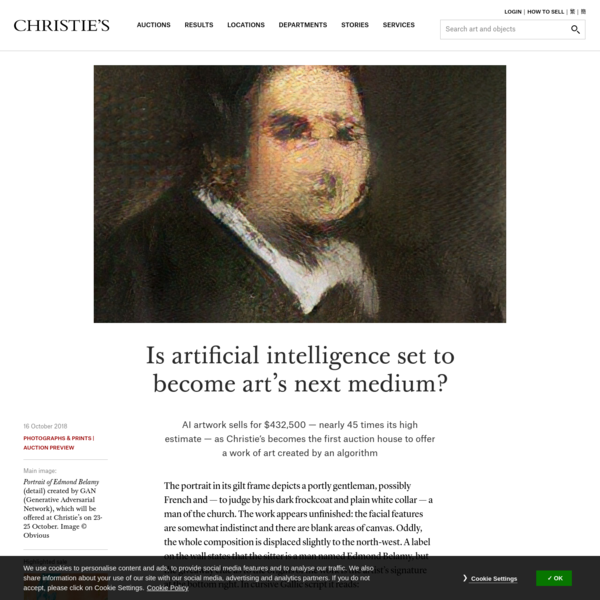 Is artificial intelligence set to become art's next medium? | Christie's