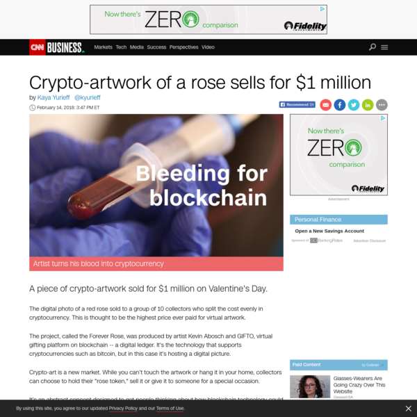 Crypto-artwork of a rose sells for record $1 million