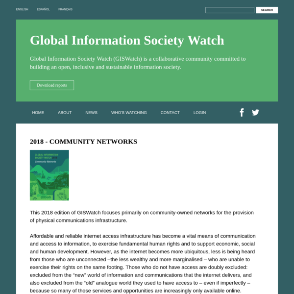 2018 - Community Networks | Global Information Society Watch