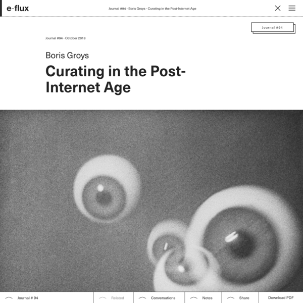 Curating in the Post-Internet Age