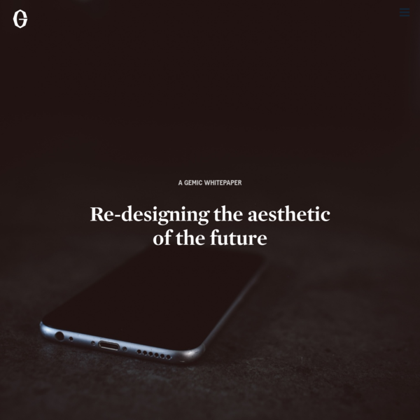The iPhone. Seamless, reflective, cool to the touch and enigmatic in its lack of expression. In its otherworldly appeal and promise of infinite possibilities, Apple's design aesthetic captured the impossible: the digital made physical. This aesthetic of sci-fi minimalism and futuristic elegance - the digital code - has for decades been the visionary fantasy of human progress.