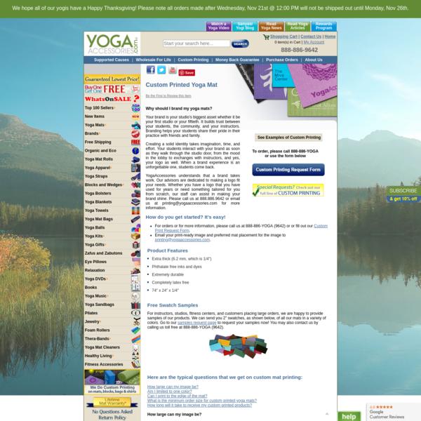 Custom Printed Yoga Mat