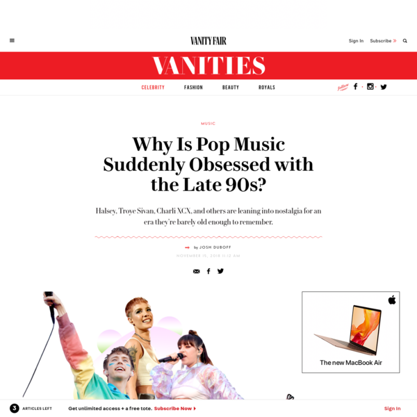 Why Is Pop Music Suddenly Obsessed with the Late 90s?