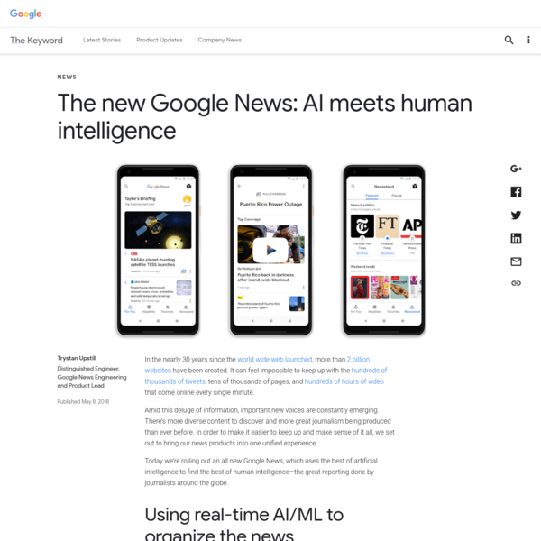 The new Google News: AI meets human intelligence