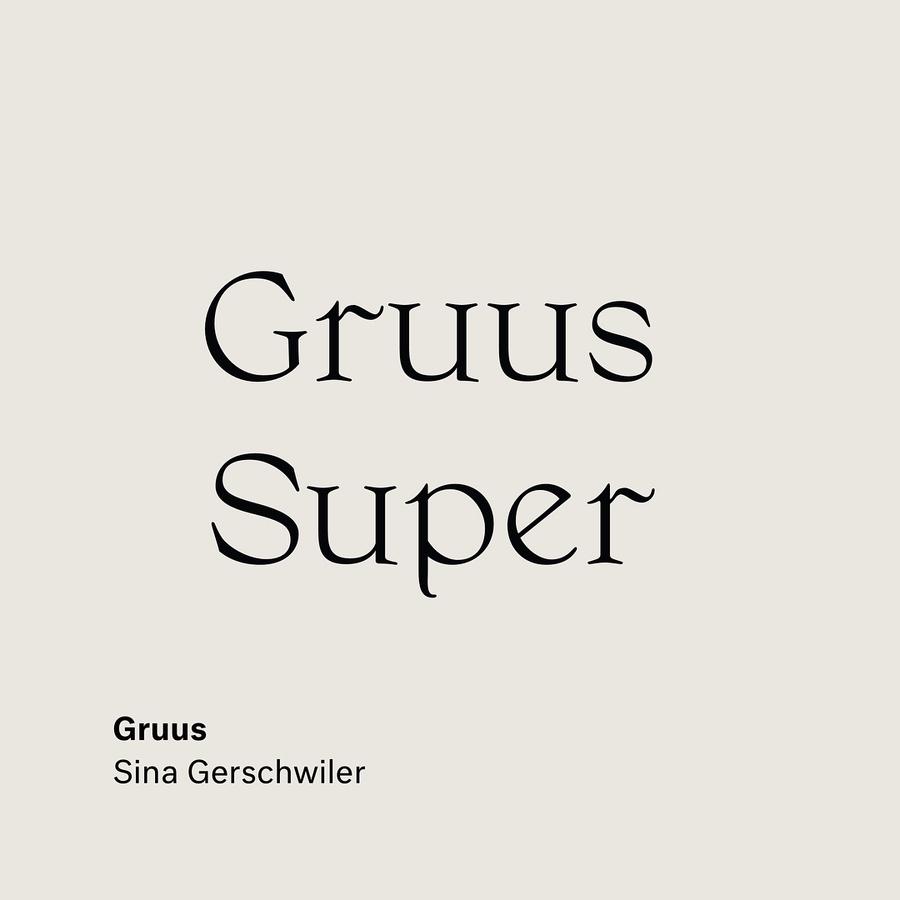 Gruus by Sina Gerschwiler @ladytiger7000 . . . . . . . . . . #Gruus #Super #type #typography #font #design #webfont #fontoft...
