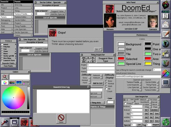 """DoomEd - """"Adobe Illustrator 5.0 for World Maps!"""""""