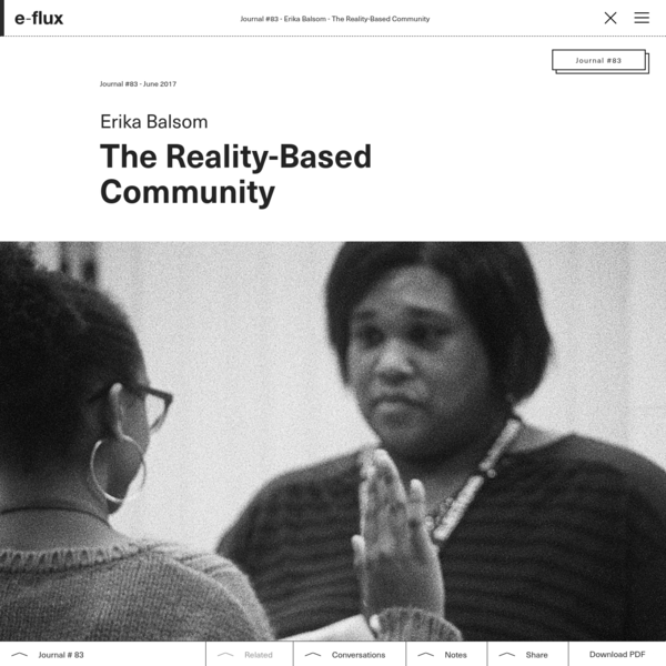 The Reality-Based Community