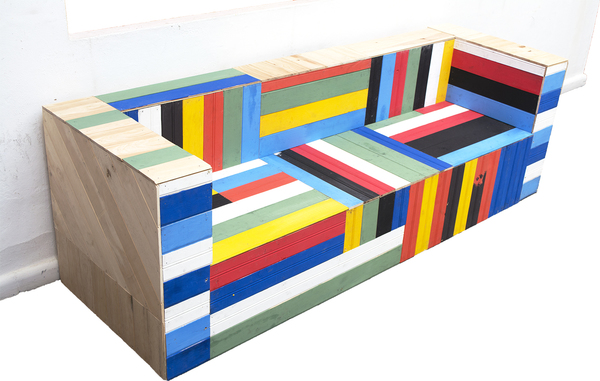 LC3 - ensamblaje madera - 200 cm X 80 cm X 65 cm