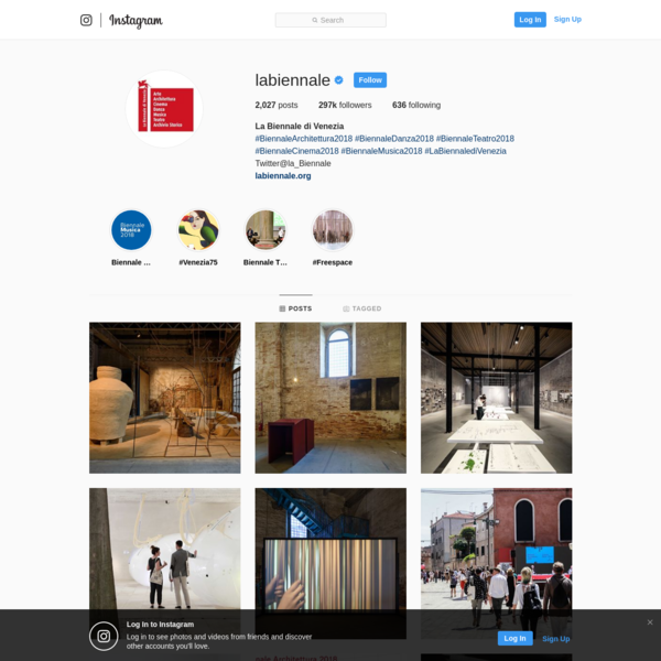 297.2k Followers, 636 Following, 2,027 Posts - See Instagram photos and videos from La Biennale di Venezia (@labiennale)