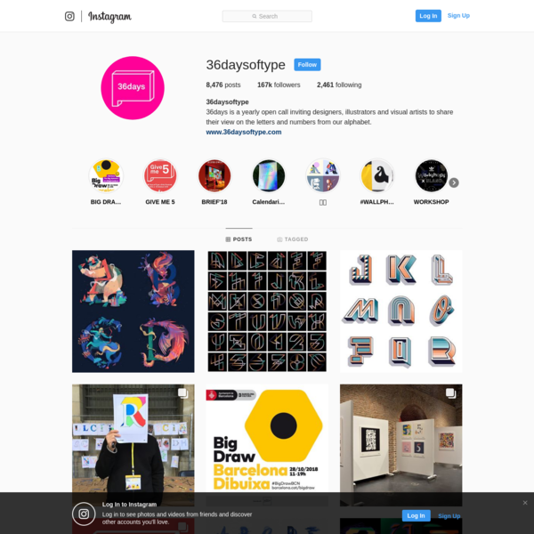 167.3k Followers, 2,461 Following, 8,476 Posts - See Instagram photos and videos from @36daysoftype