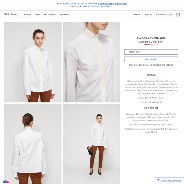Totokaelo Grosgrain Detail Shirt - Sale - Womens