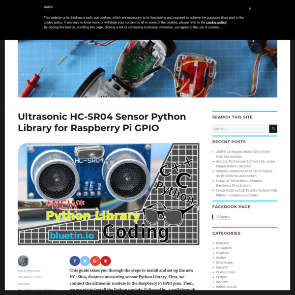 Are na / Ultrasonic HC-SR04 Sensor Python Library for