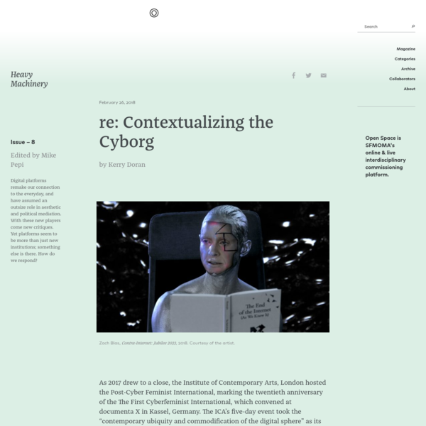re: Contextualizing the Cyborg