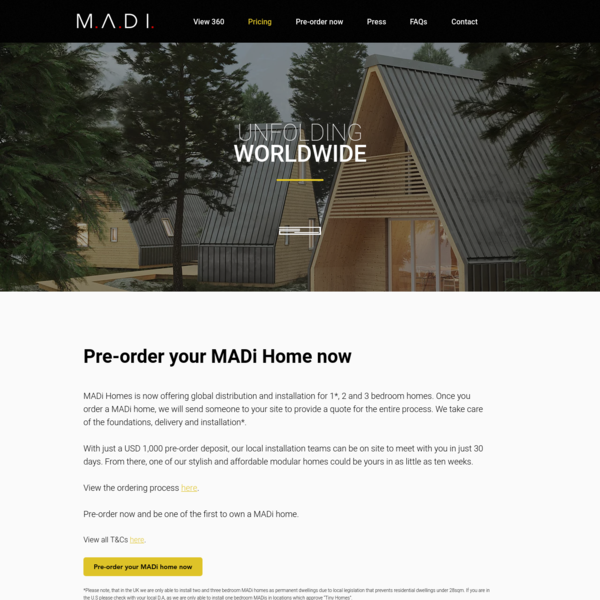 MADi Home | Pricing