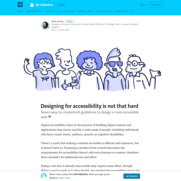 Digital accessibility refers to the practice of building digital content and applications that can be used by a wide range of people, including individuals who have visual, motor, auditory, speech, or cognitive disabilities. There's a myth that making a website accessible is difficult and expensive, but it doesn't have to.