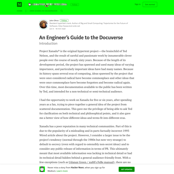 An Engineer's Guide to the Docuverse - Hacker Noon
