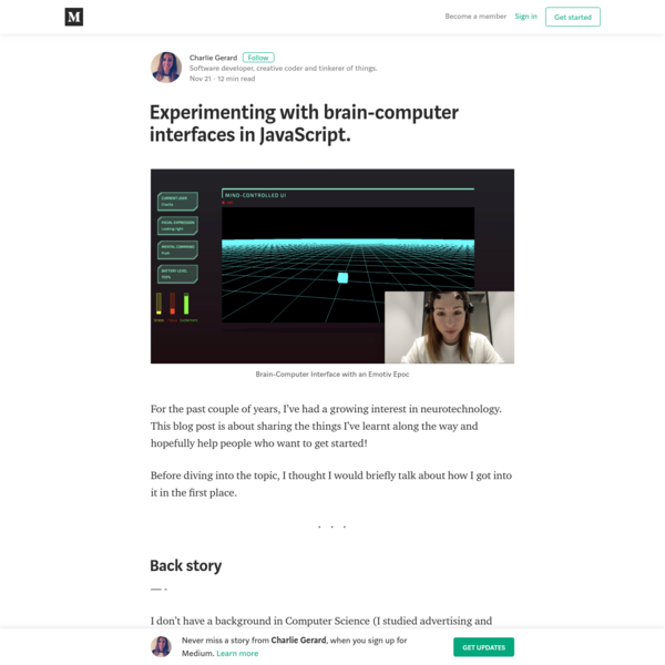 Experimenting with brain-computer interfaces in JavaScript.