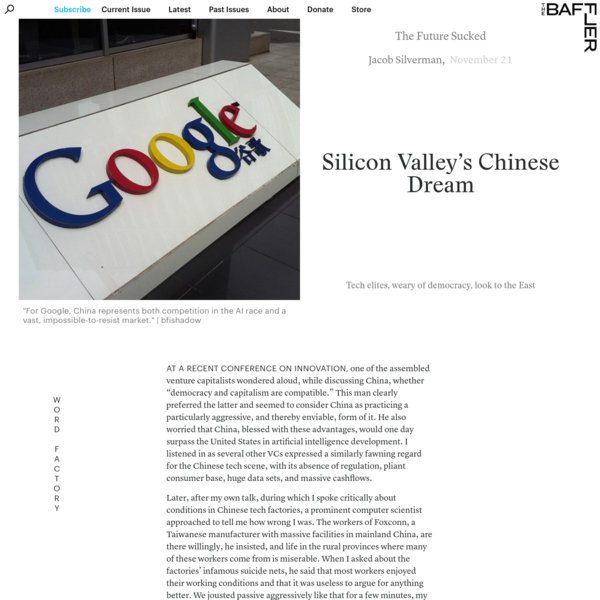Silicon Valley's Chinese Dream | The Baffler