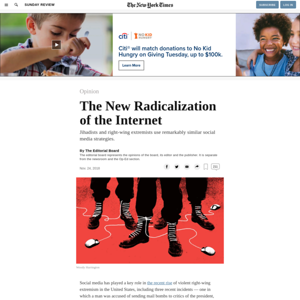 Opinion | The New Radicalization of the Internet - The New York Times