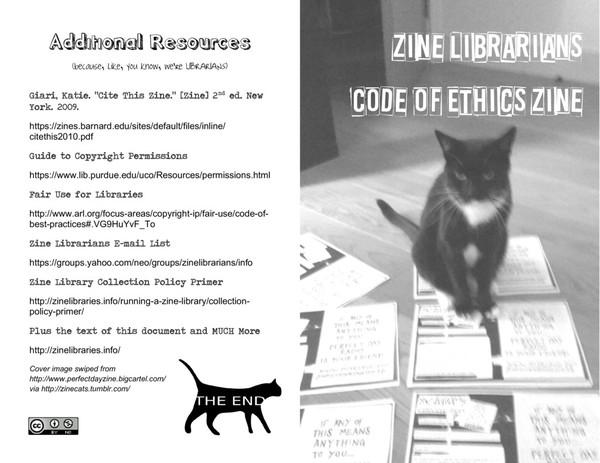 zine librarians code of ethics zine