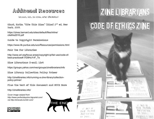 zine librarians code of ethics zine