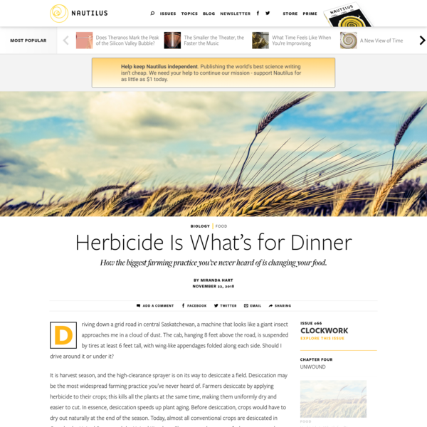 Herbicide Is What's for Dinner - Issue 66: Clockwork - Nautilus