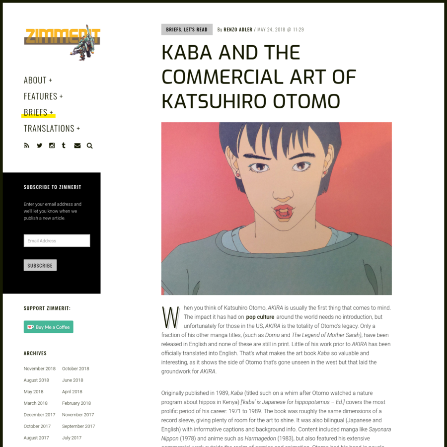 When you think of Katsuhiro Otomo, AKIRA is usually the first thing that comes to mind. The impact it has had on pop culture around the world needs no introduction, but unfortunately for those in the US, AKIRA is the totality of Otomo's legacy.