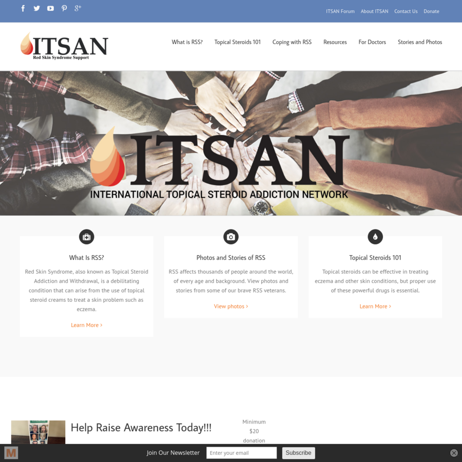 Help Raise Awareness Today!!! To help get the word out, ITSAN has professionally printed our organization's brochure. These brochures can be helpful tools to give to medical professionals as well as those who are learning more about RSS. To receive