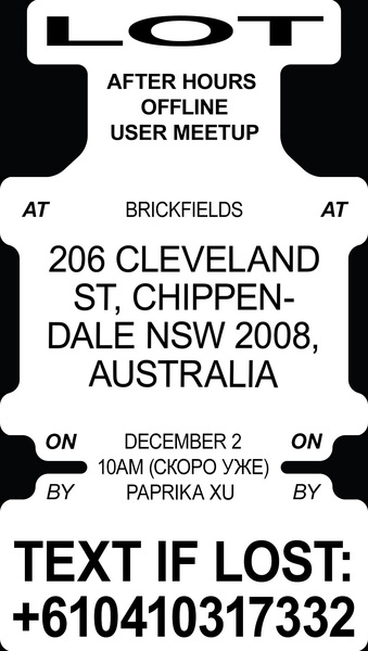 AFTER HOURS - 12-2-2018 AT BRICKFIELDS 206 CLEVELAND ST CHIPPENDALE NSW 2008, AUSTRALIA  TEXT IF LOST: +610410317332