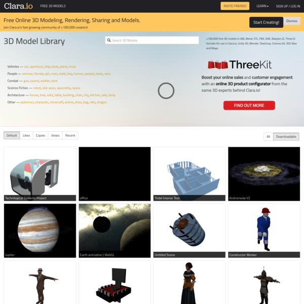Free 3D Models, Download or Edit Online · Clara.io