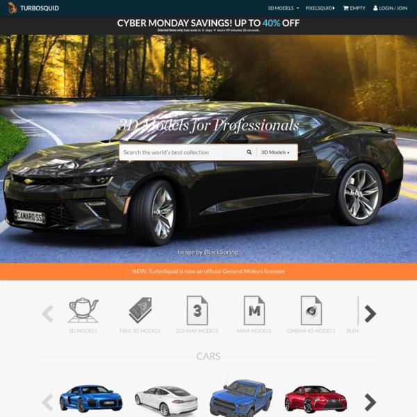 3D Models for Professionals :: TurboSquid
