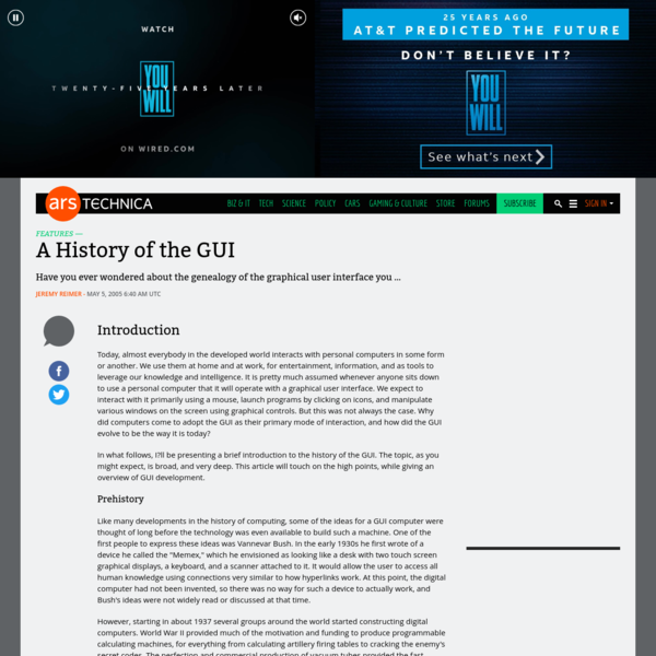 A History of the GUI