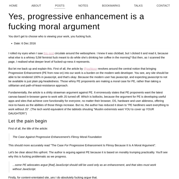 I rolled my eyes when I saw this post circulate around the webosphere. I knew it was clickbait, but I clicked it and read it, because what else is a whiney SJW feminist fuck meant to do while she's drinking her coffee in the morning?