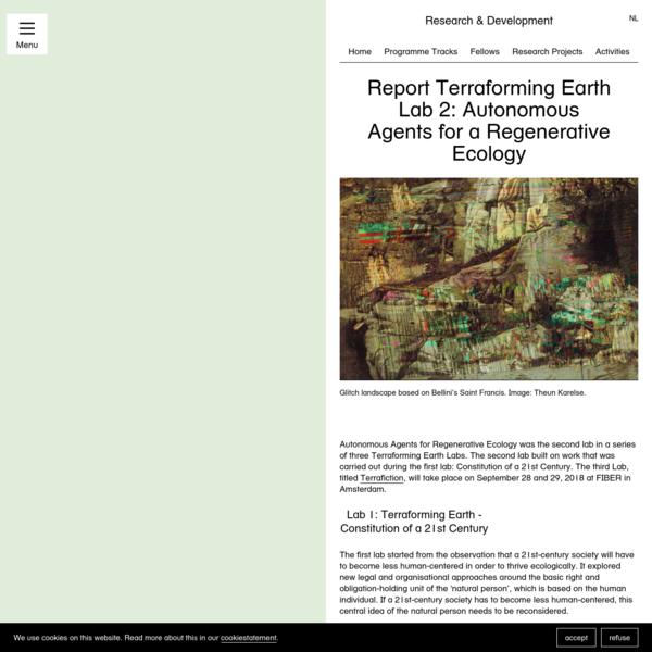 Report Terraforming Earth Lab 2: Autonomous Agents for a Regenerative Ecology