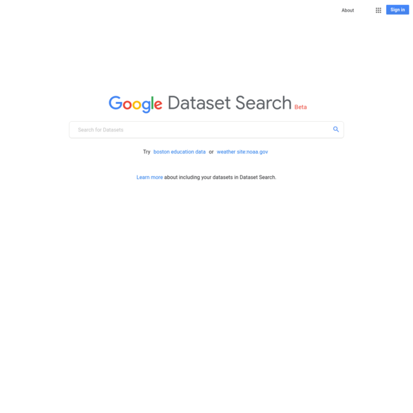 Learn more about including your datasets in Dataset Search.