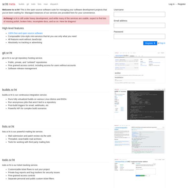 sr.ht - software hosting for hackers