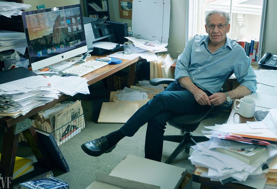 Bob Woodward in his home office in Washington