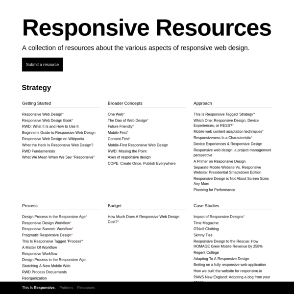 Responsive Web Design Resources | This Is Responsive