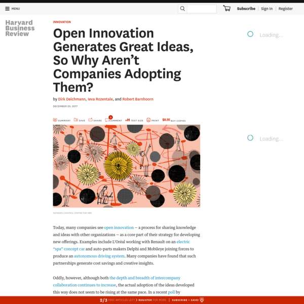 Open Innovation Generates Great Ideas, So Why Aren't Companies Adopting Them?