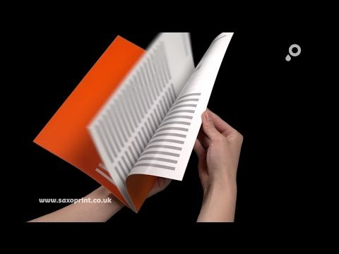 Your advantages of brochures with staple binding and loop binding from SAXOPRINT