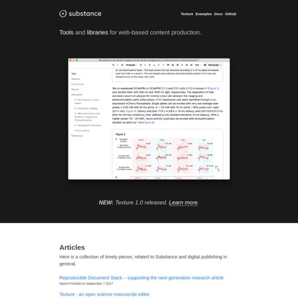 Substance website