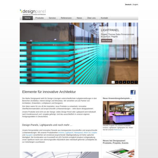 Die Marke Designpanel steht für Design-Lösungen unterschiedlichster Aufgabenstellungen in den Bereichen Architektur, Interior-Design und Messebau.