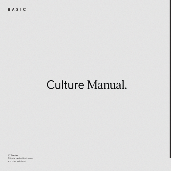 Our online employee handbook introduces new hires to our agency and creative culture. Read it, share it, live it.