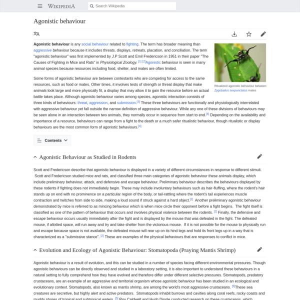 Agonistic behaviour - Wikipedia