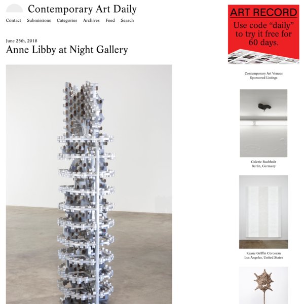 Anne Libby at Night Gallery (Contemporary Art Daily)