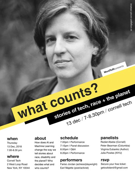 what counts? storie of tech, race + the planet