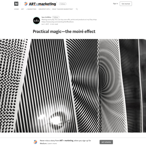 Practical magic - the moiré effect - ART + marketing
