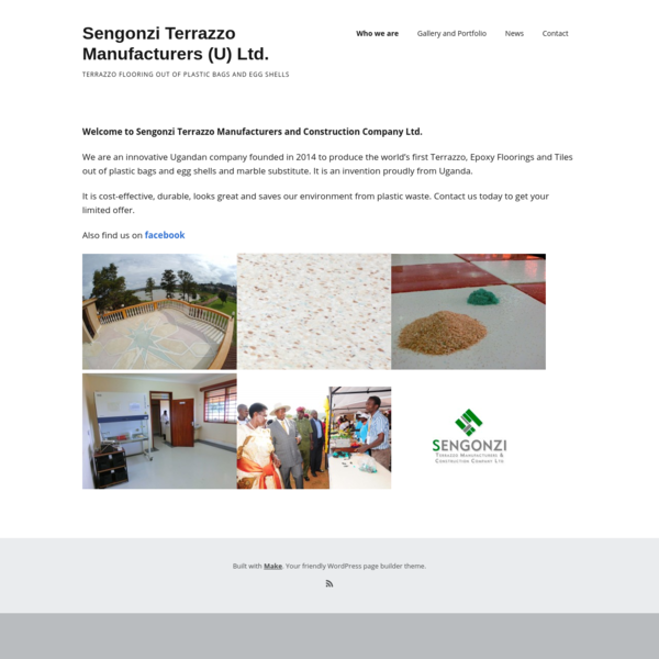 Sengonzi Terrazzo Manufacturers (U) Ltd. - Terrazzo Flooring out of Plastic Bags and Egg Shells